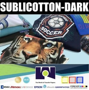 Sublicotton dark Heat Transfer Paper 50 Sh 8 5 x11