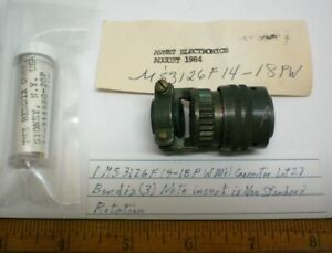 1 Ms3126f14 18pw Military Connector W Backshell Bendix Lot 27 Made In Usa