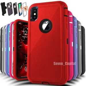 For Apple iPhone X XR XS Max 10 Shockproof Protective Rugged Hard Cover Case $7.99
