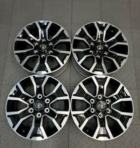96764 2020 Toyota Tacoma 17 Machined Black Factory Oem Wheels Rims Set