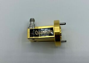 Wr 12 Waveguide To 1 Mm Male Coax Adapter Gold Plated By Quantum Microwave