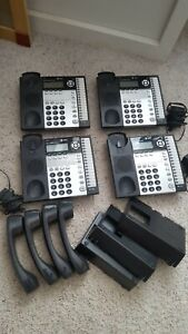 4 At t 1040 4 line Small Business System Power Supply Handsets Stands