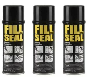 3 Cans Fill And Seal Expanding Foam Sealant Insulation 12 Oz