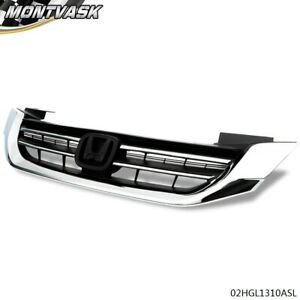 Front Bumper Radiator Upper Hood Grill Grille For 2013 2015 Honda Accord Sedan