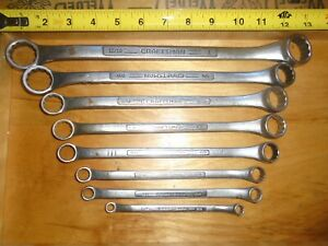 8 Usa Craftsman Box End Wrench Set Mechanics Tools 1 4 To 1