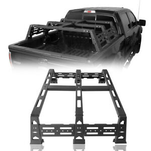 Rear Truck High Bed Rack Luggage Carrier Textured Black Fit 2009 2014 Ford F 150