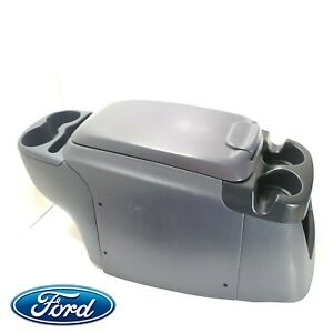 99 07 Ford Excursion F 250 F250 F350 Front Center Console Complete Blue Cup