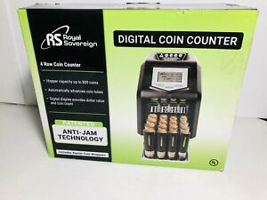 Royal Sovereign Electric Coin Sorter Counter Machine 4 Row Digital Total Display