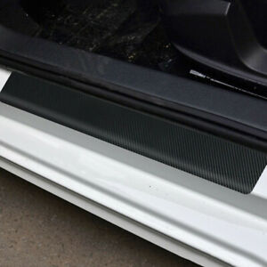 Parts Accessories Car Door Sill Protector Carbon Fiber Wrap Film Sticker Scraper