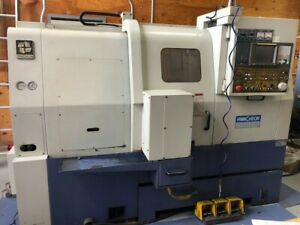 Cnc Lathe With Live Tooling Hwacheon Hi eco 21hs