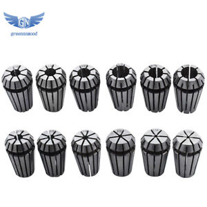New 12pcs Er16 Spring Collet Set 1 32 3 8 For Cnc Milling Lathe Tool Engraving