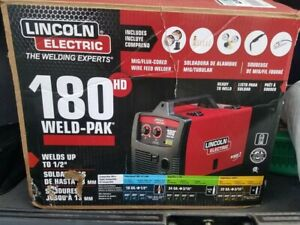 Lincoln Electric 180 Hd Amp Weld Pak Mig Wire Feed Welder 180hd K2515 1