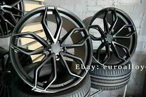4x 22 Inch Haxer112 Concave Wheels Fits Mercedes Gle Coupe Vossen Black Hre New