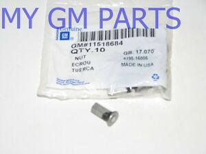 Silverado Tail Gate Protector Retaining Nut New Oem Sold As Each 11518684