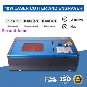 Secondhand Upgraded40w Laser Engraver Cutting Machine Crafts Red dot Pointer