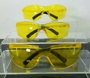 Clear Yellow Amber Safety Glasses By Pro Vizgard Protective Eyewear 3 Pair Lot