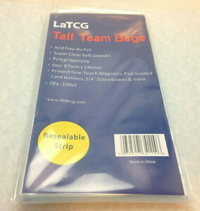 100 Latcg Clear Psa Graded Card Perfect Fit Ultra Pro Magnetic Holder Sleeves