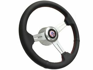 1968 1978 Ford Mustang Cobra S6 Perforated Leather Steering Wheel Brushed Kit