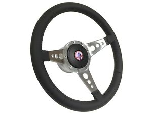1968 1978 Ford Mustang Cobra S9 Leather Steering Wheel Kit 3 spoke Holes