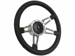 1979 1982 Ford Fox Body Mustang Steering Wheel Kit 4 Slot Spoke Pony Emblem