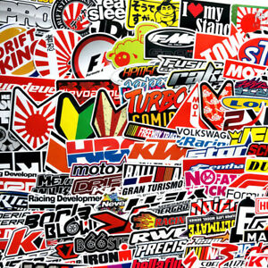 100pcs Jdm Sticker Pack Motocross Helmet Car Bicycle Laptop Moto Vinyl Decal Lot