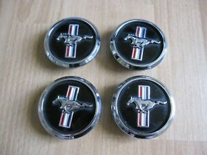 Set Of 4 Genuine Oem 2005 2009 Ford Mustang Pony Center Caps P n 5w1j 1a096 ba