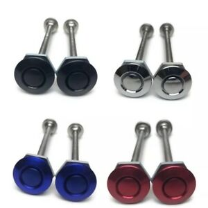 2x Universal Car Latch Push Button Quick Release Hood Bonnet Pins Lock Clip Kit
