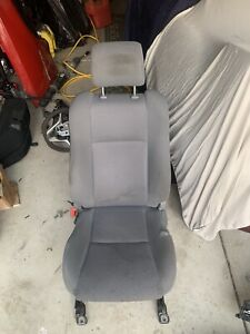 2005 2008 Toyota Tacoma Oem Front Left Driver Cloth Seat Manual Gray W O Airbag