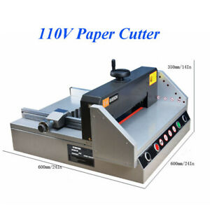 Intbuying 110v 13 Inch Desktop Electric Paper Cutter A4 330mm 120w