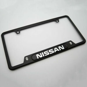 Brand New Black License Frame Plate Cover For Nissan