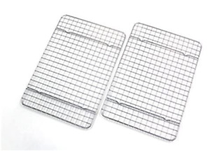 2 Cooling Racks Baking Cookie Kitchen Sheet Oven Candy Pan Bacon Checkered Chef