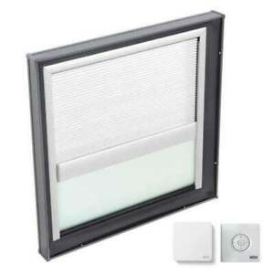 Fixed Curb Mount Skylight With Laminated Low e3 Glass White Solar Powered Ligh