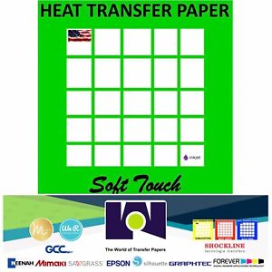 Inkjet Heat Transfer Paper Light Color T Shirt Fabrics 11 x17 25 Sh Softtouch