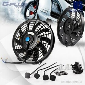 Universal 9 Inch 12v 80w Slim Push pull Electric Radiator Cooling Engine Fan Kit