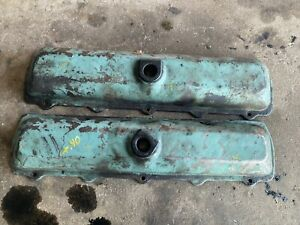 Oldsmobile Diesel 5 7 Valve Covers Pair Lot C030