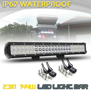 20inch 126w Led Work Light Bar Spot Flood Combo For Offroad Pickup Suv Atv Jeep