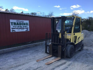 2013 Hyster H80ft 8000lb Lpg Straight Mast Pneumatic Forklift W Cab