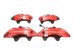 2008 Porsche Cayenne Gts Set 4 Red Brembo Brake Calipers Front Rear Left Right