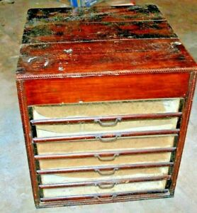 Vintage 6 Drawer Cabinet sewing Medical Sheet Music Crafts very Unique
