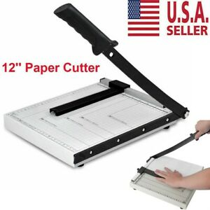 12 Paper Cutter A4 To B7 Metal Base Guillotine Page Trimmer Blade Scrap Booking