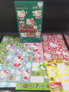 Huge Lot 100s Halloween Christmas Hello Kitty Stickers Embossed Sparkle Etc
