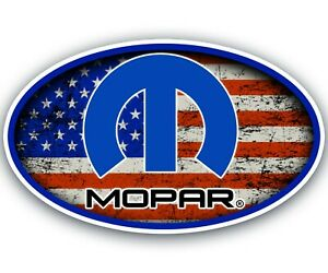 Mopar Sticker Flag Logo Tool Chest Garage Mechanic Tool Box Car Decal