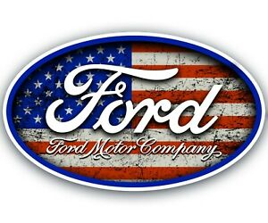 Ford Sticker Flag Logo Tool Chest Garage Mechanic Tool Box Car Decal