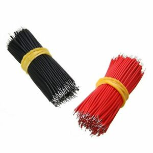 200pcs 8cm Jumper Cable Black red Kit Motherboard Breadboard Weld Wires Tinned