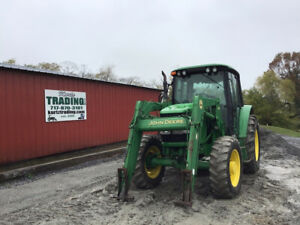 2007 John Deere 6320 4x4 100hp Farm Tractor W Cab Loader Power Quad 5700hrs