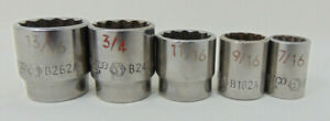 Matco Tools Socket Lot Of 6 Sae 12 Point 3 8 Drive Sockets Lightly Used Ex