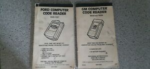 Gm And Ford Computer Code Reader Manuals