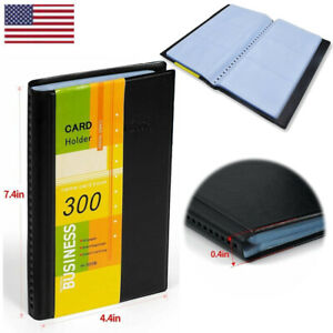 Business Card Holder Book Organizer Leather 300 Name Id Credit Card Case Keeper