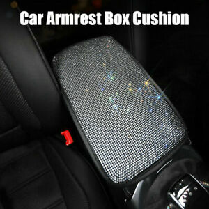 Universal Luxury Bling Car Armrest Pad Cover Center Console Box Cushion Pad Trim