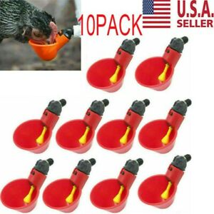 10pcs Poultry Water Drinking Cups 1 2 Pvc Bushing For Chicken Drinker System